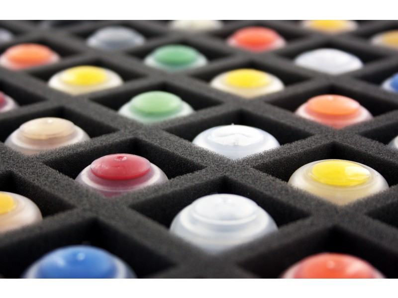 Schaumstoffeinlage mit GW Farben