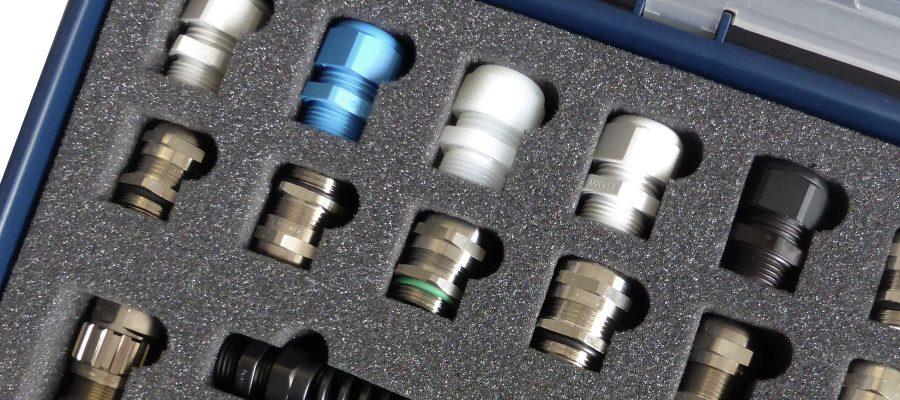 Bild individuelle Schaumstoffeinlage für Industriekabelverschraubungen in Schaumstoff